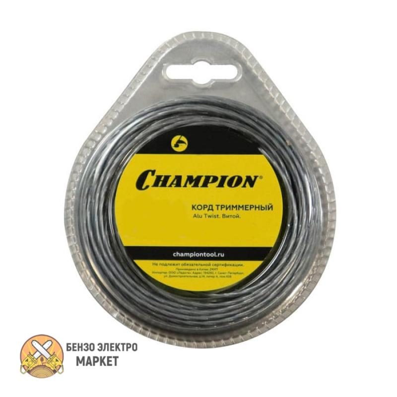 Корд триммерный CHAMPION  Alu Twist  2.0мм*15м (витой)