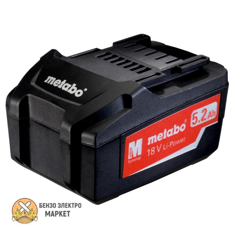 Аккумулятор METABO 18 В 5.2 АЧ LI-POWER EXTREME