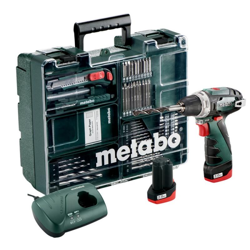 Аккумуляторная дрель METABO PowerMaxx BS + Набор