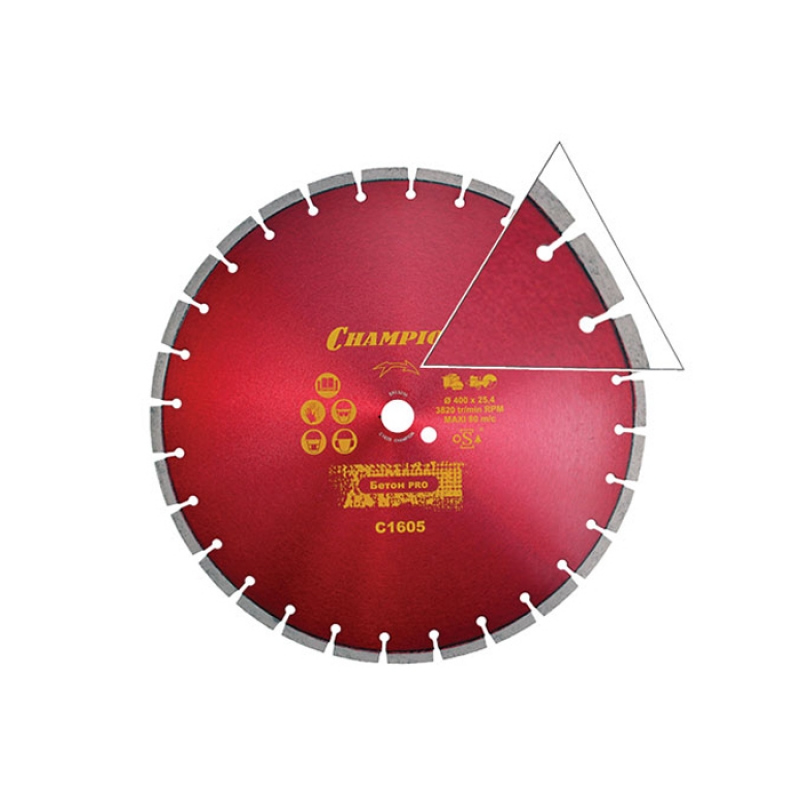 Диск алмазный CHAMPION БЕТОН ST CONCREMAX С1605