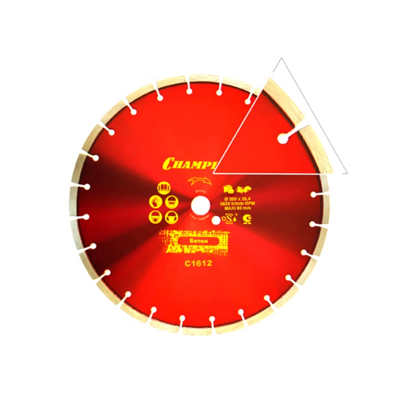 Диск алмазный CHAMPION БЕТОН ST CONCREMAX С1612