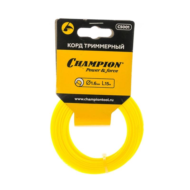 Корд триммерный CHAMPION Round 1.6мм* 15м (круглый)