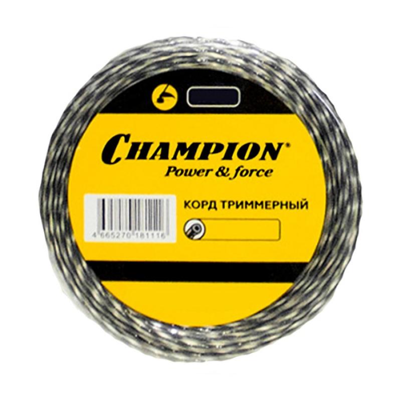 Корд триммерный CHAMPION Tri-twist 2.7мм*60м (витой треугольник)